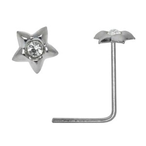 Nose piercing Silver 925 Crystal Star