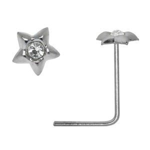 neuspiercing Zilver 925 Kristal ster
