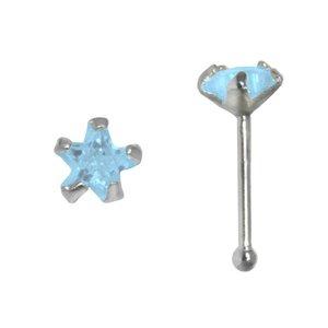 Nose piercing Silver 925 zirconia Star