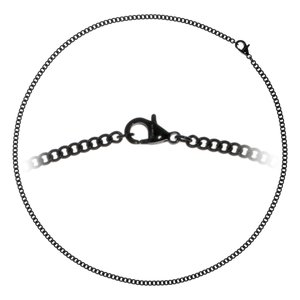 Necklace Stainless Steel Black PVD-coating