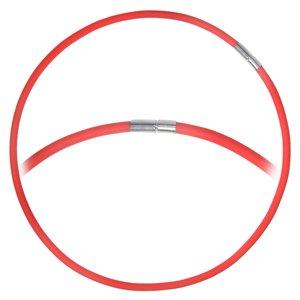 Eenvoudige halsketting PVC Staal