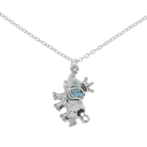 Argento 925 Cristallo Ganesha Elefante