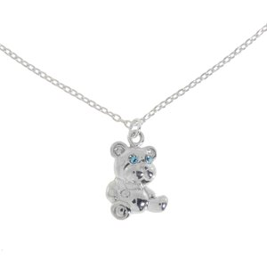 Silver 925 Crystal Bear Teddy Teddy_bear