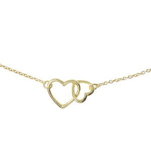 Neck jewelry Silver 925 Gold-plated Heart Love