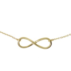 Neck jewelry Silver 925 Gold-plated Eternal Loop Eternity