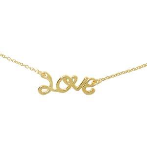 Halsschmuck Silber 925 Gold-Beschichtung (vergoldet) Love Liebe