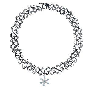 Pendente catena Plastica Argento 925 Zircone Stella
