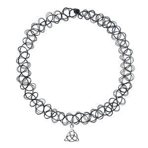 Neck jewelry Plastic Silver 925 Eternal Loop Eternity