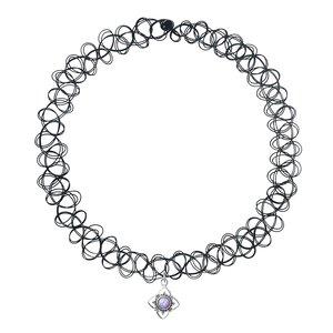 Neck jewelry Plastic Silver 925 Opal Flower