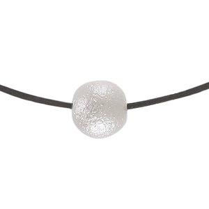 Halsschmuck Baumwolle Silber 925 Acrylglas