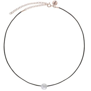 Neck jewelry Cotton Silver 925 Gold-plated Acrylic glass