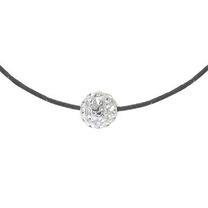 Neck jewelry Cotton Silver 925 Crystal Epoxy
