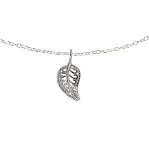 Joya de cuello Plata 925 Hoja Diseño_floral