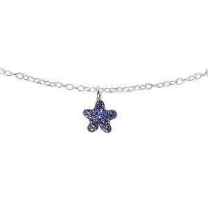 Kinder Halskette Silber 925 Kristall Stern