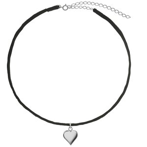 Neck jewelry Velvet Silver 925 Heart Love