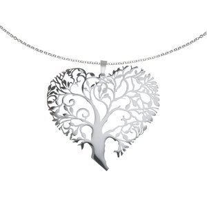 Neck jewelry Stainless Steel Leaf Plant_pattern Heart Love