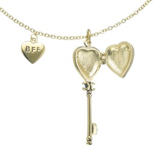 Neck jewelry Stainless Steel PVD-coating (gold color) Black PVD-coating Heart Love Key Letter Character Number