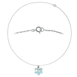 Halsschmuck Silber 925 Swarovski Kristall Stern