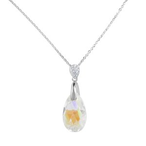 Halsschmuck Silber 925 Kristall Tropfen Tropfenform Wassertropfen