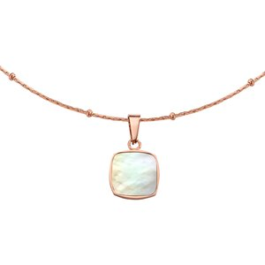 Neck jewelry Stainless Steel PVD-coating (gold color) Mother of Pearl