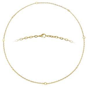 Halskette Edelstahl Kristall PVD Beschichtung (goldfarbig)
