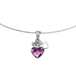Neck jewelry Silver 925 Swarovski crystal Heart Love
