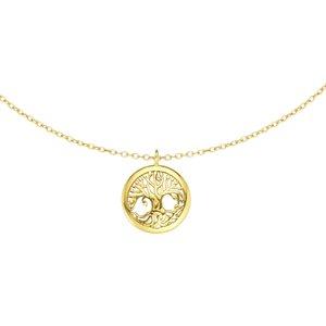 Joya de cuello Plata 925 Revestido de oro Árbol Árbol_de_la_vida