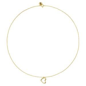 Halsschmuck Silber 925 Gold-Beschichtung (vergoldet) Herz Liebe