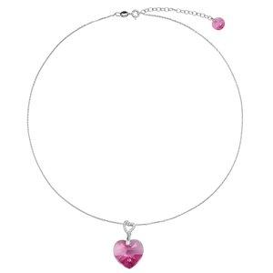Joya de cuello Plata 925 cristales de Swarovski Corazón Amor
