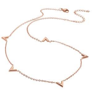 Collares Acero fino Revestimiento PVD (color oro) Triángulo Letra Número Cifra
