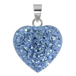 Joya de cuello Plata 925 Cristal Corazón Amor