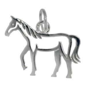Kleiner Silber-Anhänger Silber 925 Pferd Hengst Fohlen