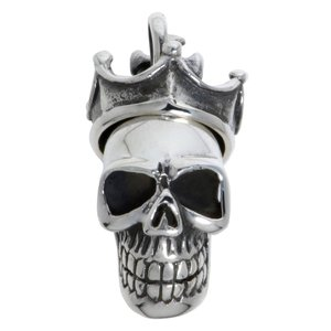Colgante de plata Plata 925 Calavera Cráneo Hueso Corona