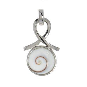 Pendente di conchiglia Argento 925 Argento 925 rodiato Conchiglia Shiva eye Spirale