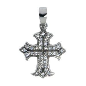 Pendentif de chaîne Argent 925 Cristal Croix
