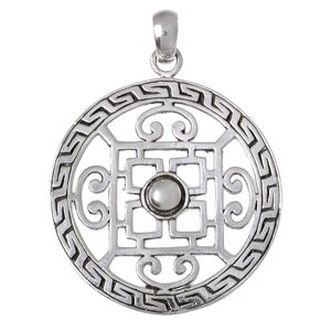 Silver pendant Silver 925 Cross Tribal_pattern