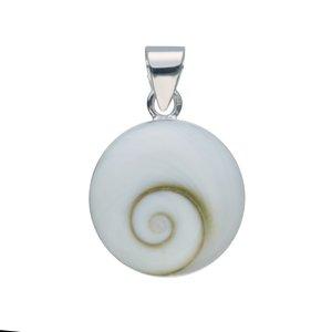 Muschel-Anhänger Silber 925 Shiva´s Eye Muschel Spirale