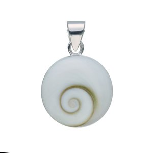 Colgante de concha Plata 925 Concha Ojo de Shiva Espiral