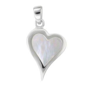 Colgante de concha Plata 925 Madreperla Corazón Amor