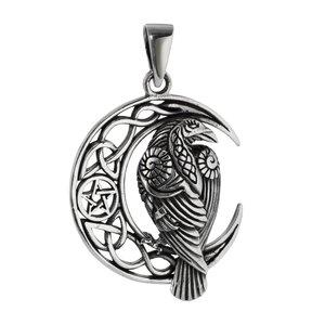 Colgante de plata Plata 925 Estrella Luna Luna_media Luneta Águila Pájaro Ave