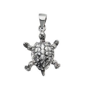 Small silver pendant Silver 925 Turtle Tortoise