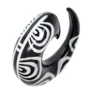Plug Buffalo horn Spiral Tribal_pattern