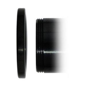 Tunnel Chirurgenstahl 316L PVD Beschichtung (schwarz) Swarovski Kristall