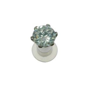 Plug Chirurgenstahl 316L Swarovski Kristall PVC