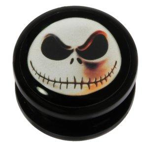 Plug Acrylglas Epoxiharz Totenkopf Schädel Knochen