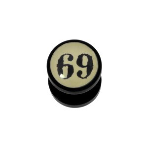 Plug Vetro acrilico Resina epossidica Lettera Numero Cifra