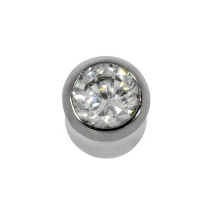 Plug Surgical Steel 316L Crystal