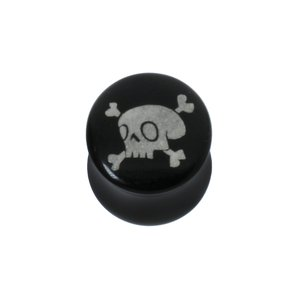 Plug Acrylic glass Skull Skeleton