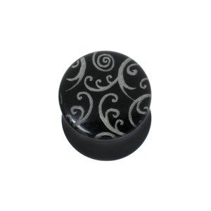 Plug Vetro acrilico Foglia Disegno_floreale Disegno_tribal Motivo_tribal Spirale