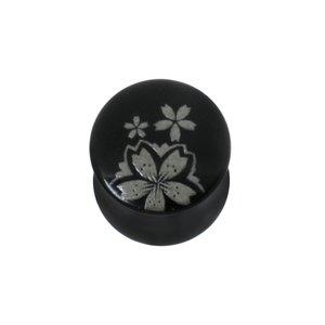 Plug Verre en acrylique Fleur
